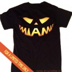 miami jack o lantern black t shirt for halloween