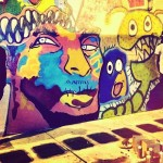 Chris Brown and Ron Bass collaborate to paint a mural n Miami's Overtown pic vis Instagram