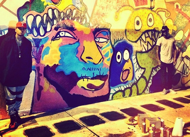 Everything that 39 s art of miami for Chris brown mural