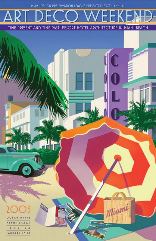 Art Calendar Florida : Call to artists in miami art deco weekend poster contest