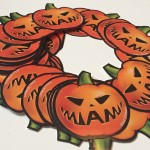 Miami sticker with Halloween theme jack - o- lantern by art of miami