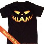 Miami t-shirt for halloween jack o lantern black