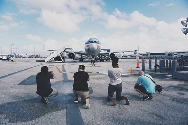 Instagrammers at Miami International Airport photo by Anthony Jordan @AntjPhotog