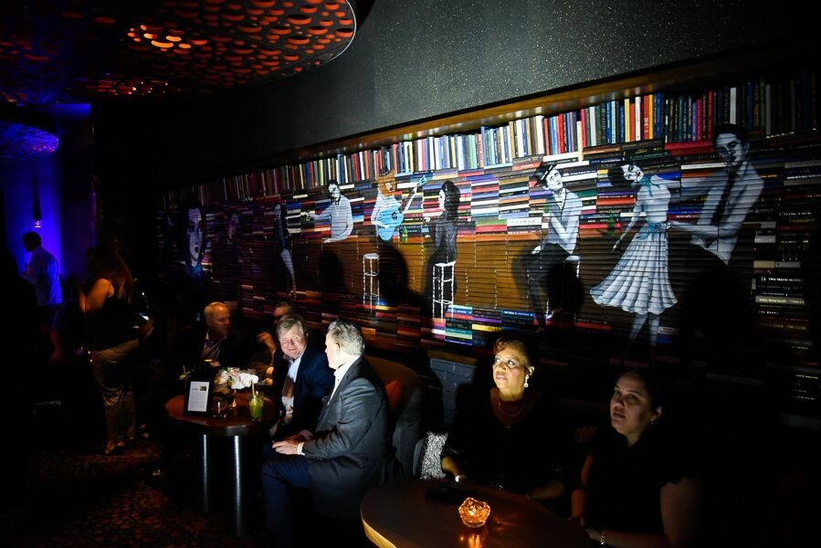 Panoramic mural at Ipic theaters Miami