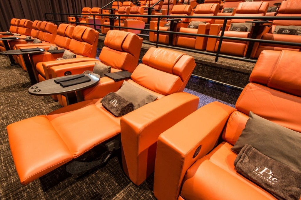 Leather sofas at iPic theaters