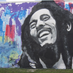 Bob Marley Mural facing I-95 by artist Trek 6