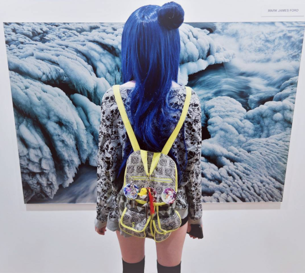 Harajuku Girl at Art Basel. Pic by @Smadars