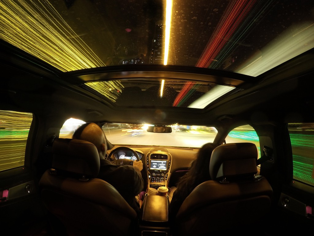 Sunset still of time-lapse of the Lincoln MKX using the GoPro Time-lapse Video mode